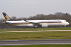 DSC 0038 -- <p>9V-SMC, Airbus A350-941, Singapore Airlines, starting its takeoff roll on Runway 05L at Manchester Airport, 15th March 2017.</p>