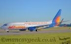 DSC 0002 -- <p>G-JZHN, Boeing 737-800, Jet2</ br> Seen here at the 23Left Hold Point at Manchester Airport, 14th May 2018</p>
