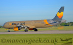 DSC 0005 -- <p>G-TCDV, Airbus A321-231, Thomas Cook, taking off from Runway 23L at Manchester Airport, 14th May 2018.</p>
