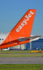 DSC 0019 -- <p>G-UZHA, Airbus A321-251NEO, Easyjet, about to take off from Runway 23L at Manchester Airport, 14th May 2018.</p>