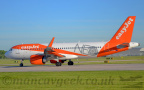 DSC 0021 -- <p>G-UZHA, Airbus A321-251NEO, Easyjet, about to take off from Runway 23L at Manchester Airport, 14th May 2018.</p>
