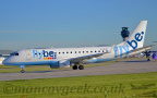 DSC 0033 -- <p>G-FBJB, Embraer ERJ170, Flybe about to take off from Runway 23L at Manchester Airport, 14th May 2018.</p>
