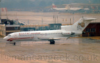 Photo of the Day 2019-01-13 -- <p>YL-BAE, Boeing 727-23, Baltic International, at London Gatwick, 26 July 1995.</p>