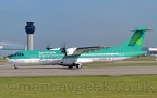 DSC 0014 -- EI-FAX, ATR72-600, Aer Lingus, about to take off from Runway 23L at Manchester Airport, 15th May 2019