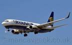 DSC 0139 -- EI-EVJ, Boeing 737-8AS, Ryanair, seconds from touchdown on Runway 23R at Manchester Airport, 15th May 2019