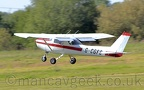 DSC 0005 -- G-CGFG, Cessna Ce152, taking off from City Airport Manchester/Barton, 23rd May 2019.
