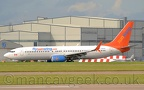Photo of the Day 2020-02-29 -- C-GFEH, Boeing 737-8GS, Sunwing, operating flights for TUI at Manchester Airport, 12th October 2019.