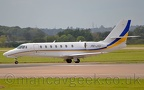 DSC 0386 -- PH-JTJ, Cessna Ce680 Citation Sovreign, turning on to Runway 23L for take off at Manchester Airport, 12th October 2019.